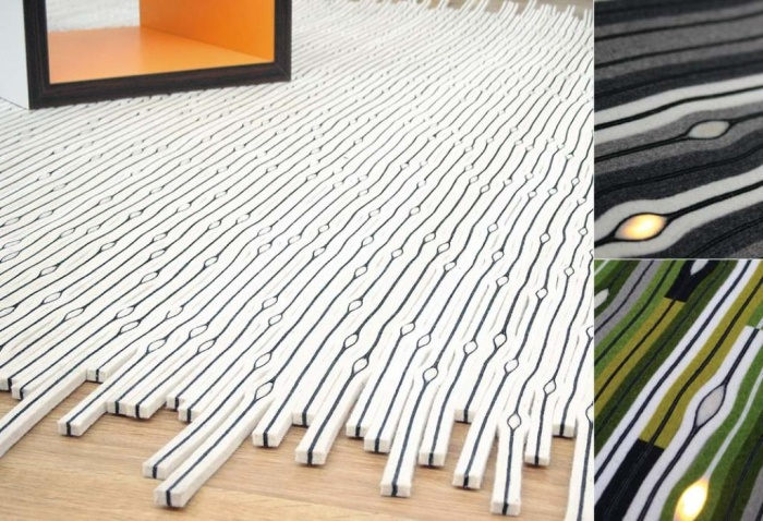 cell-LED-carpet Exotic and Creative Carpet Designs for Your Unique Home