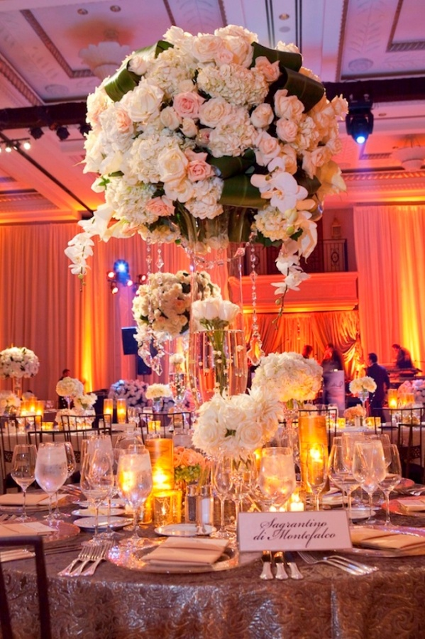 centerpiece-tall-wedding-luxury-lavish-sophisticated-high-end 50 Fabulous and Breathtaking Wedding Centerpieces