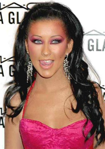 christina-aguilera-2 Top 12 Ugliest Celebrity Makeup
