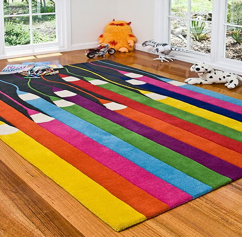 colorful-area-rugs Kids' Rugs Are Not Just For Decoration, But An Educational Method