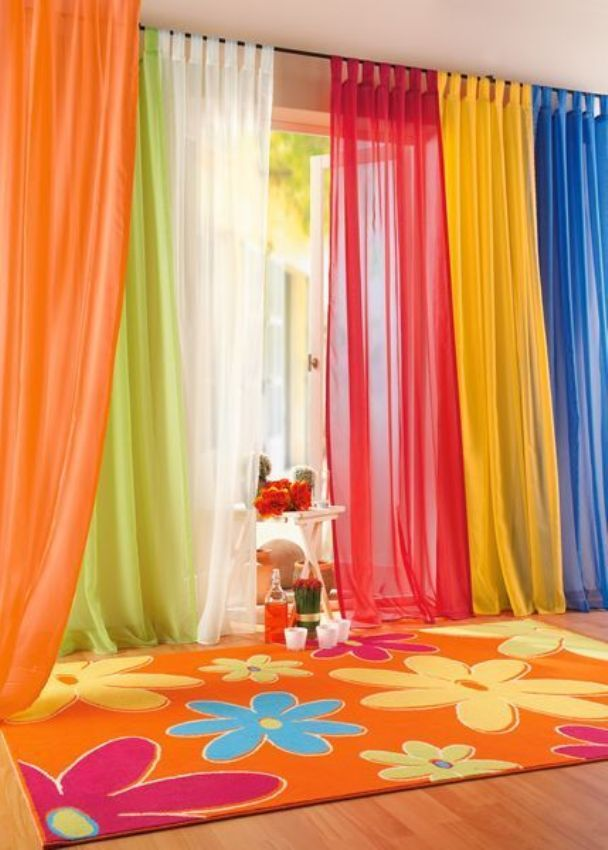 colorfull-plain-curtain Curtains Have Great Power In Changing The Look Of Your Home