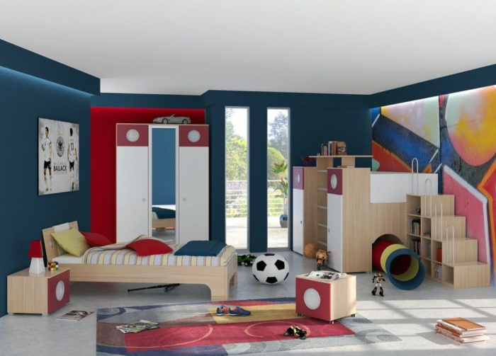 cool-toddler-bedroom-ideas-for-active-children-modern-kids-room 11 Tips on Mixing Antique and Modern Décor Styles