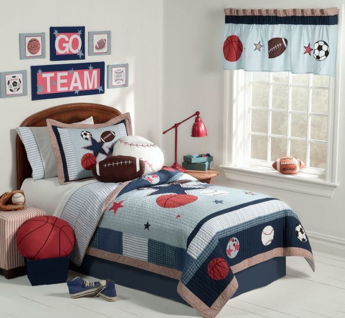 dark-wood-headboard-with-white-bed-sheets-and-basketball-bed-covers-for-kids-in-boy-kids-room-ideas How To Find The Most Durable Bed Sheets For Kids?!