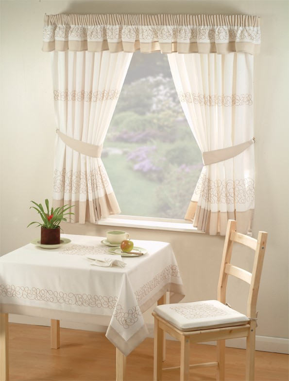 deco-beige-curtains-a Kitchen Window's Curtain For Privacy And Decoration