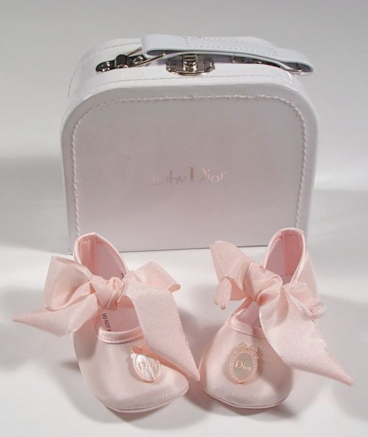 dior-baby-silk-pink-ribbon-shoes TOP 10 Stylish Baby Girls Shoes Fashion