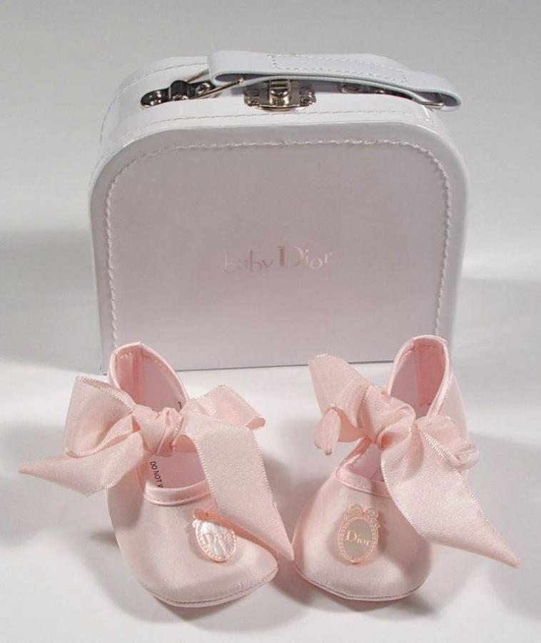 dior-baby-silk-pink-ribbon-shoes TOP 10 Stylish Baby Girls Shoes Fashion