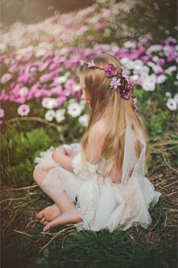 flower-girl-floral-crown 50 Gorgeous Kids Hair Accessories and Hairstyles