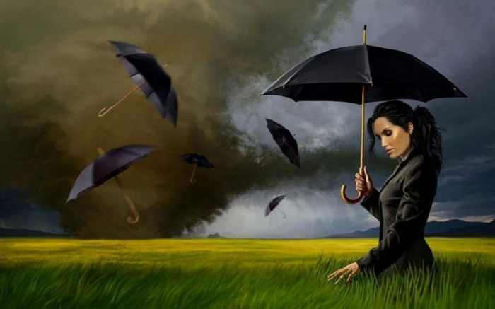 girl_with_black_umbrellas_raven_gothic_nice_fine-hd-wallpaper-475575 Umbrellas Became Popular Among Women, Men And Even Kids