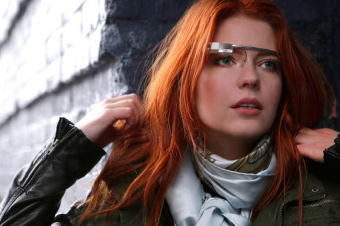 glass Google glasses capture images with winking