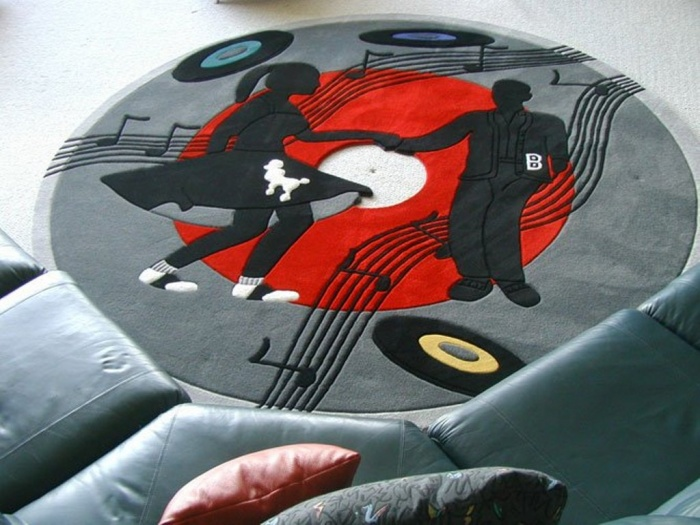 gramophone-record Exotic and Creative Carpet Designs for Your Unique Home