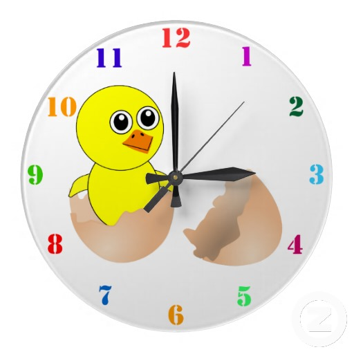 hatching_chick_kids_wall_clock-r4901787a9dd5429eb734d03c84a30349_fup13_8byvr_512 15 Amazing Wall Clocks Will Be Pieces Of Art In Your Home