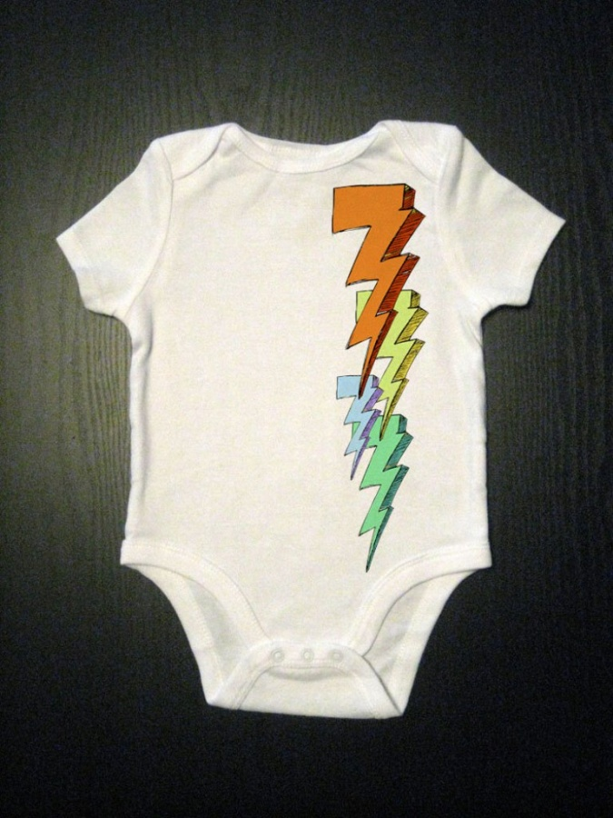 lighnting Gorgeous Rainbow Kids Clothing