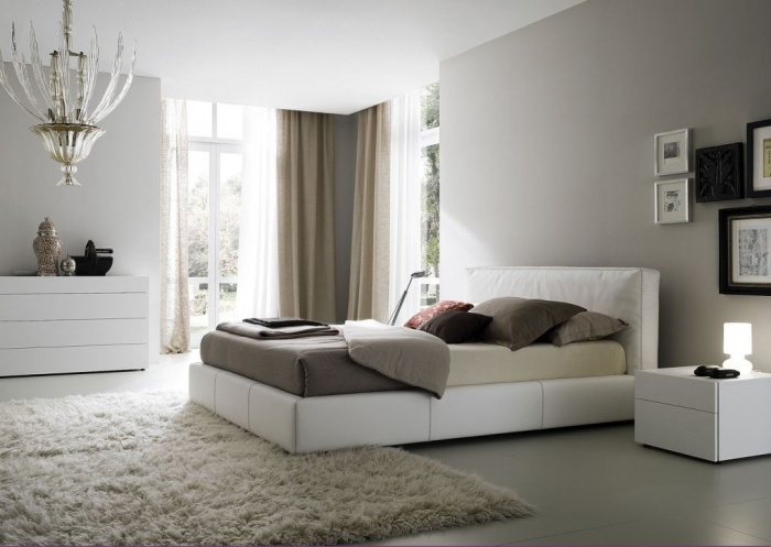 modern-bedroom-rug-curtain Fabulous and Breathtaking Bedroom Designs