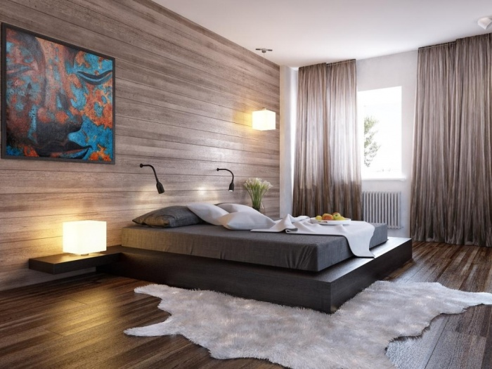 modern-bedroom-with-cool-wood-wall Fabulous and Breathtaking Bedroom Designs