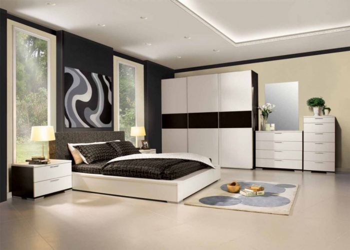 modern-black-and-white-bedroom-designs Fabulous and Breathtaking Bedroom Designs