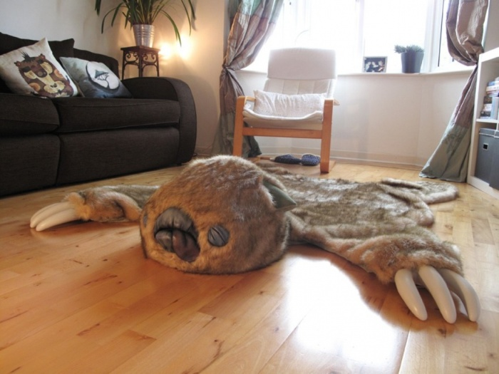 monster-skin-rug Exotic and Creative Carpet Designs for Your Unique Home