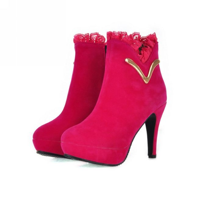 new-fashion-spring-and-autum-HIGH-HEEL-boots-woman-s-shoe-platform-Frosted-round-head-free Wearing High Heels Makes You Look Slimmer