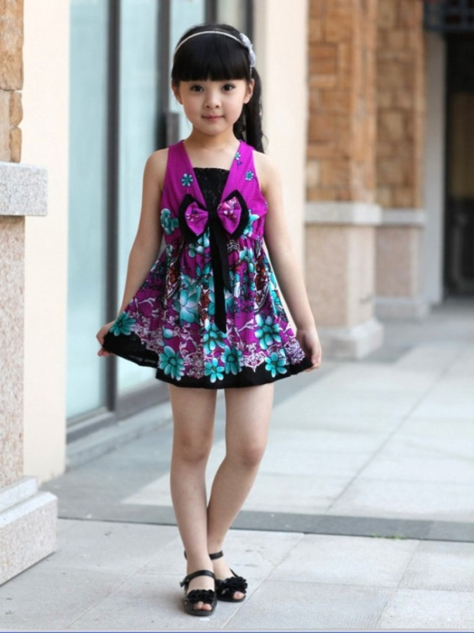 pageant-dresses-with-font-b-embroidered-b-font-flower-chiffon-dress-for Most Stylish and Awesome Party Clothing for Girls