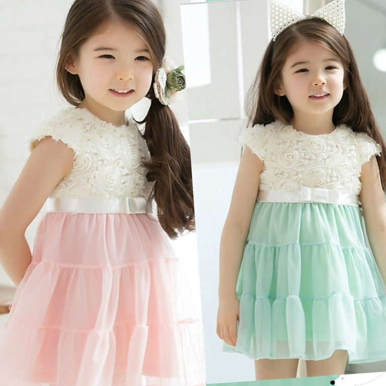 pink-and-green Most Stylish and Awesome Party Clothing for Girls