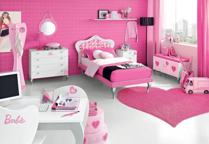 pink-barbie-doll-teen-bedroom-furniture Fascinating and Stunning Designs for Children's Bedroom
