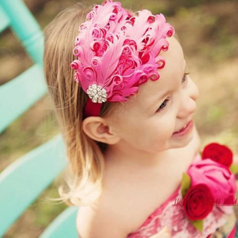 pink-headband. 50 Gorgeous Kids Hair Accessories and Hairstyles