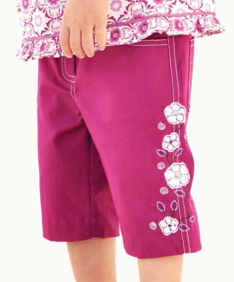 plum-embroidered-pants 30 Cutest Baby Girl Pants