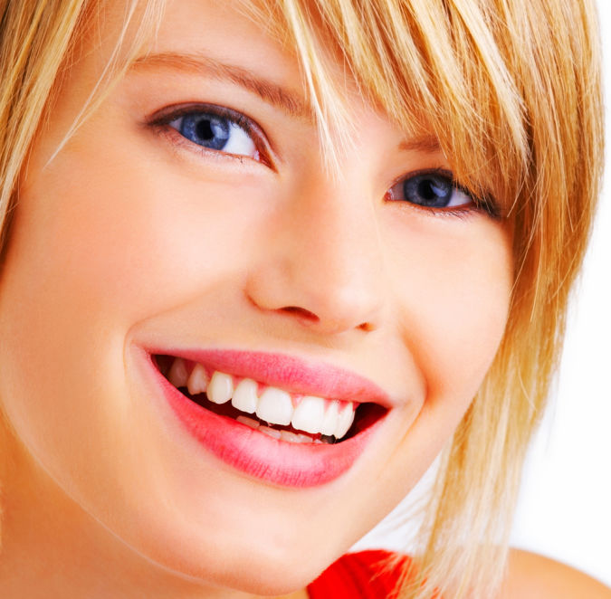 pretty-smiling Whitening Your Teeth At Home