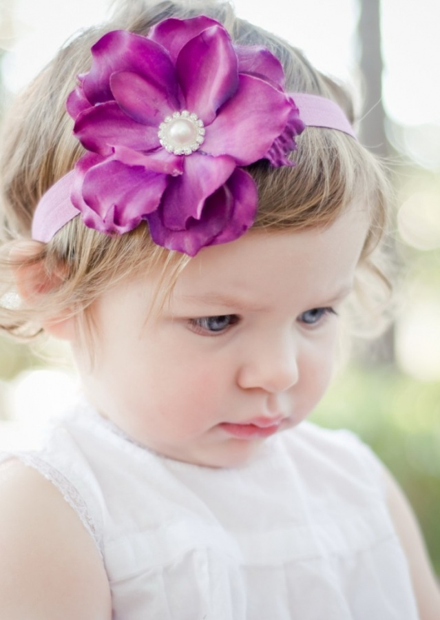 purple-band 50 Gorgeous Kids Hair Accessories and Hairstyles
