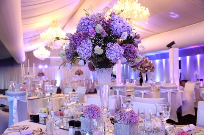 purple 50 Fabulous and Breathtaking Wedding Centerpieces
