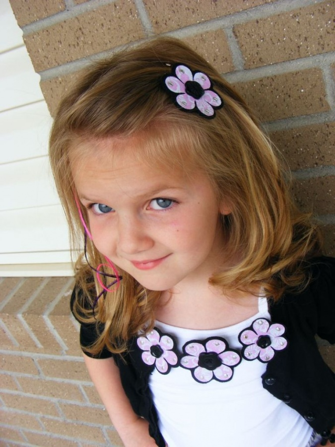 purple3 50 Gorgeous Kids Hair Accessories and Hairstyles