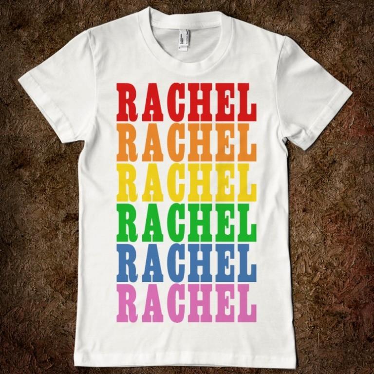 rainbow-name-rachael-t-shirt Gorgeous Rainbow Kids Clothing