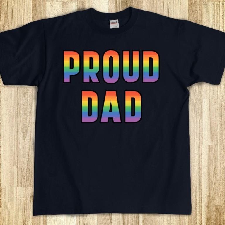 rainbow-proud-dad-t-shirt Gorgeous Rainbow Kids Clothing