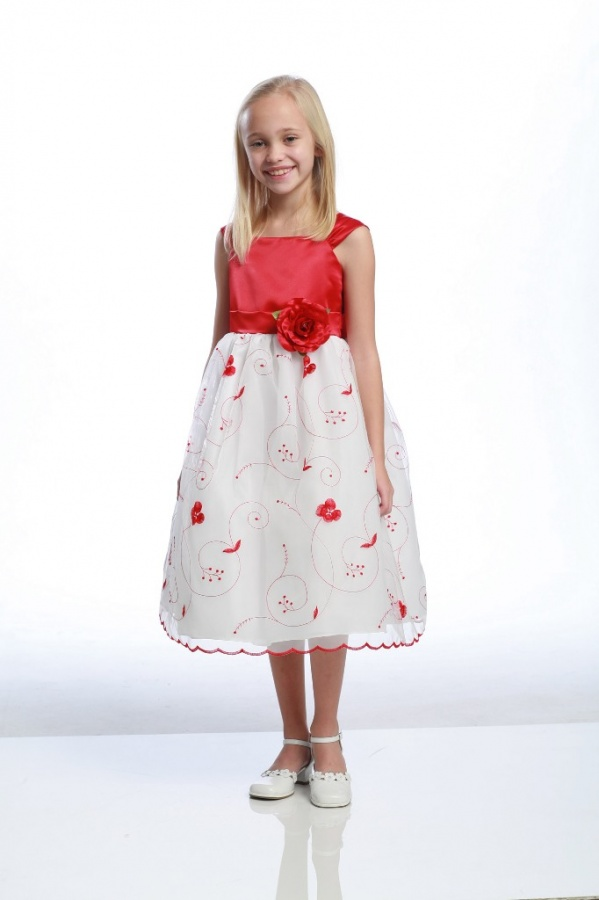 red-and-white Most Stylish and Awesome Party Clothing for Girls