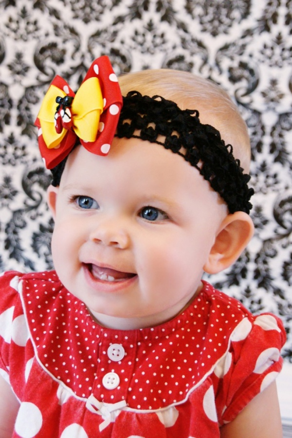 red-and-yellow 50 Gorgeous Kids Hair Accessories and Hairstyles
