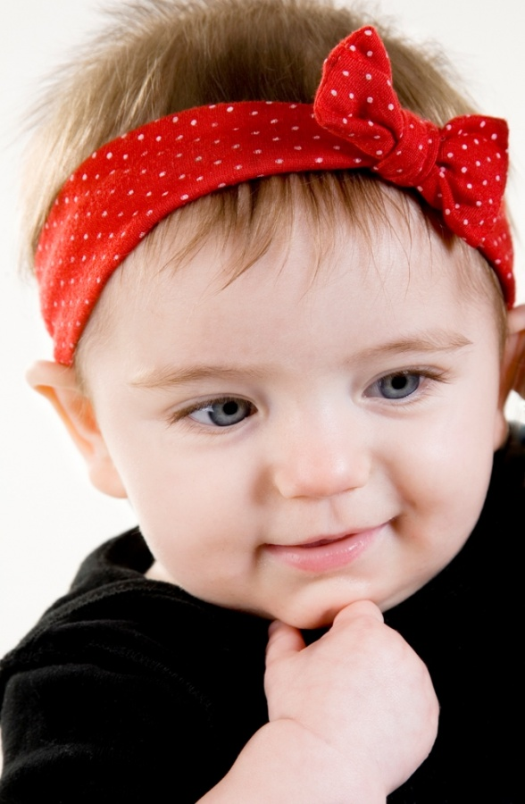 red-bow 50 Gorgeous Kids Hair Accessories and Hairstyles