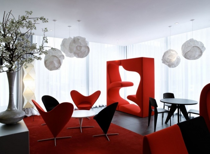 red dining room moderndesign Discover the Furniture Trends for 2014