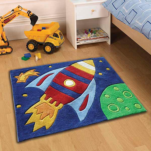 rocket-rug-multi-0 Kids' Rugs Are Not Just For Decoration, But An Educational Method