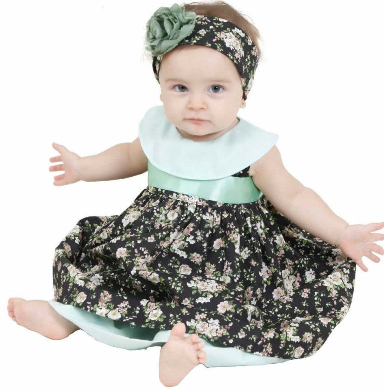 roupas-de-bebe-vestido-floral-verde Most Stylish and Awesome Party Clothing for Girls