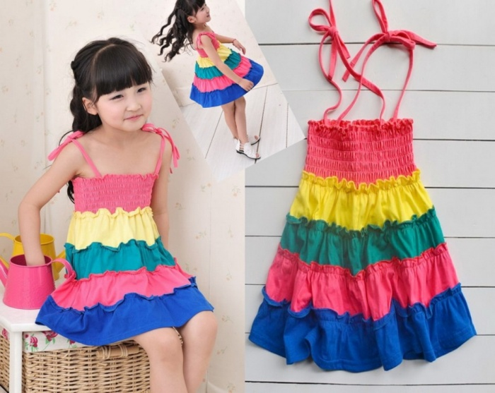ruffles Gorgeous Rainbow Kids Clothing