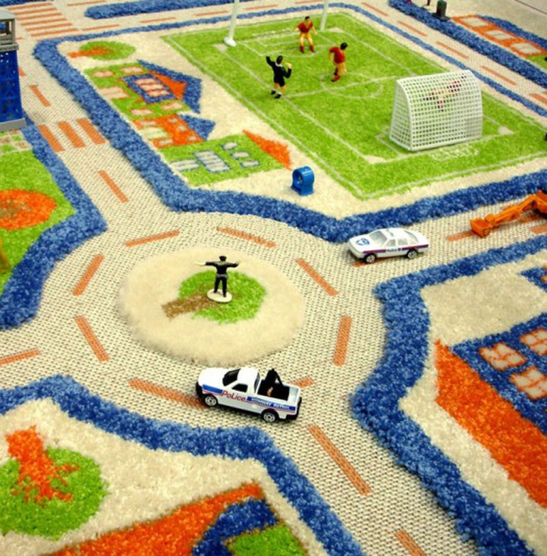 rug-kids-play-ground-idea Exotic and Creative Carpet Designs for Your Unique Home
