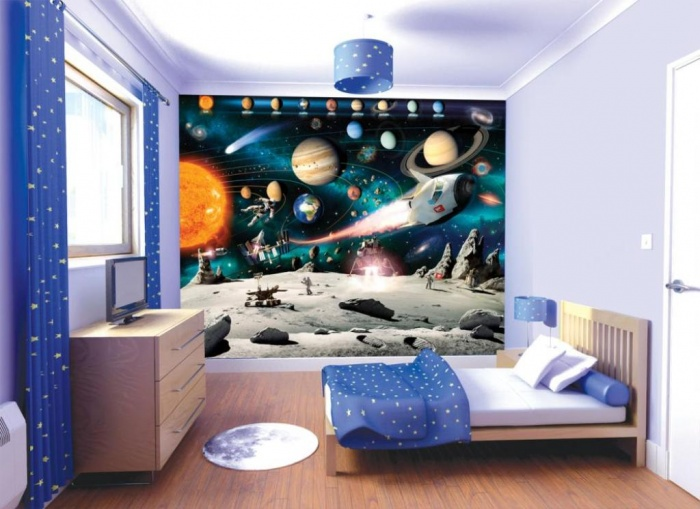 space Fascinating and Stunning Designs for Children's Bedroom