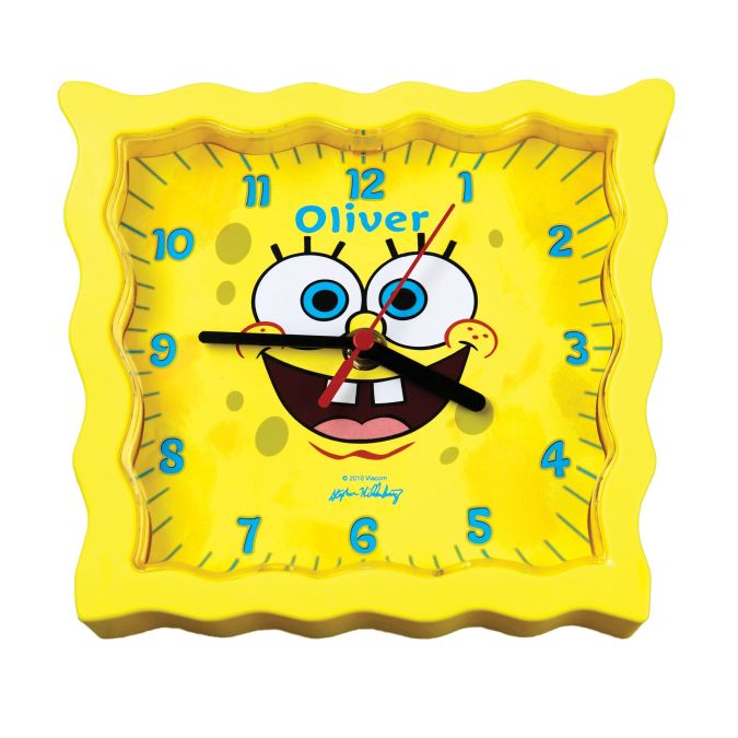 spongebob-squarepants-personalised-kids-wall-clock-gift-idea-11143-p 15 Amazing Wall Clocks Will Be Pieces Of Art In Your Home