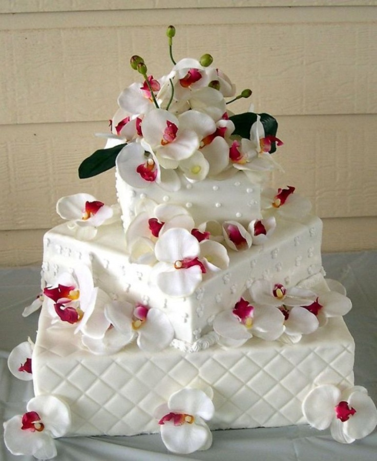 square 50 Mouthwatering and Wonderful Wedding Cakes