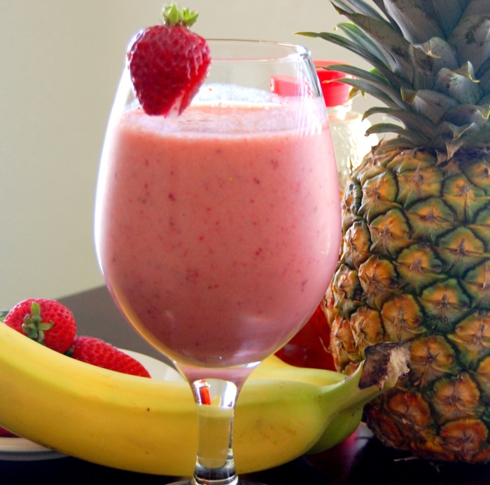 strawberry-banana-pineapple-smoothie Smoothie Drink Is Very Healthy And Delicious With Low Calories