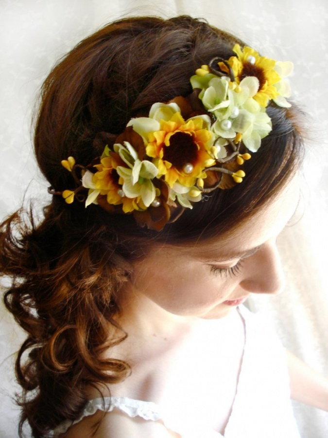 sunflower 50 Gorgeous Kids Hair Accessories and Hairstyles