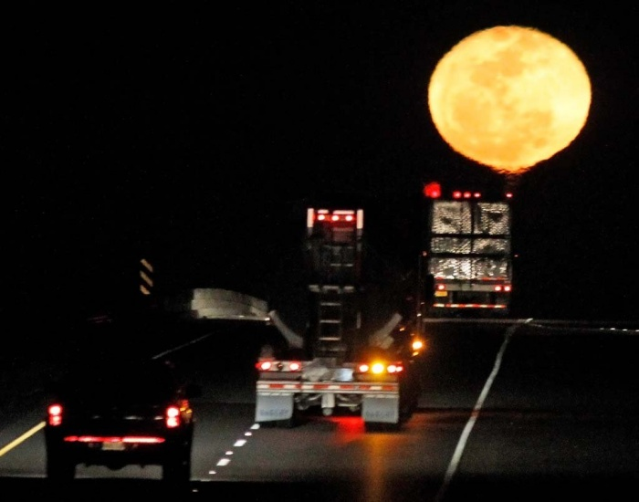 super-moon-de43b8c5a739cad3 The Night Sky Has Been illuminated By The Brighter And Bigger Supermoon