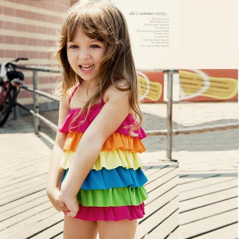 sweetcute Gorgeous Rainbow Kids Clothing