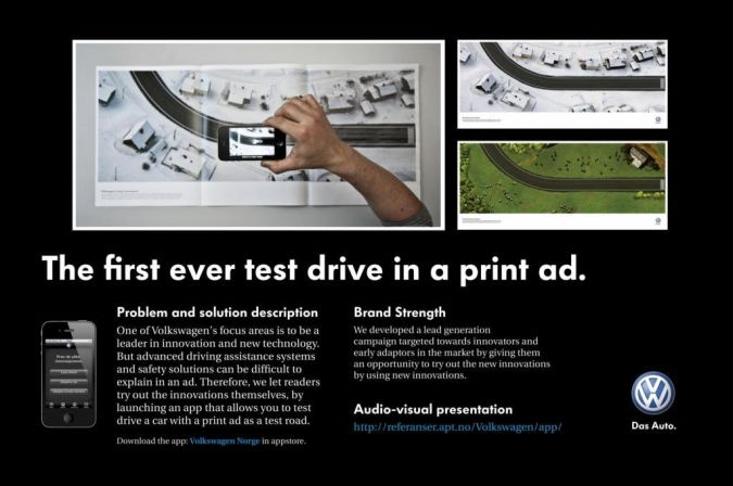 volkswagen-test-drive Top 10 Most Interactive Car Print Ads