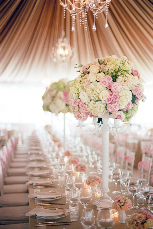 wedding-reception-decor-tall-centerpieces Dazzling and Stunning Outdoor Wedding Decorations