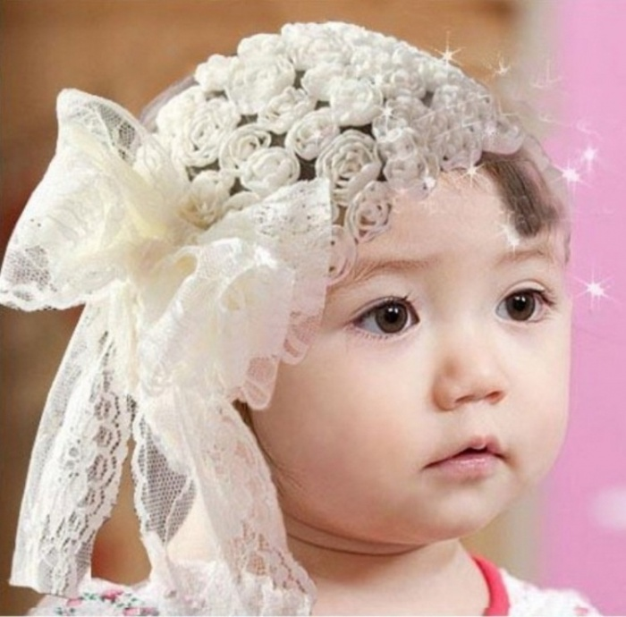 white.1 50 Gorgeous Kids Hair Accessories and Hairstyles
